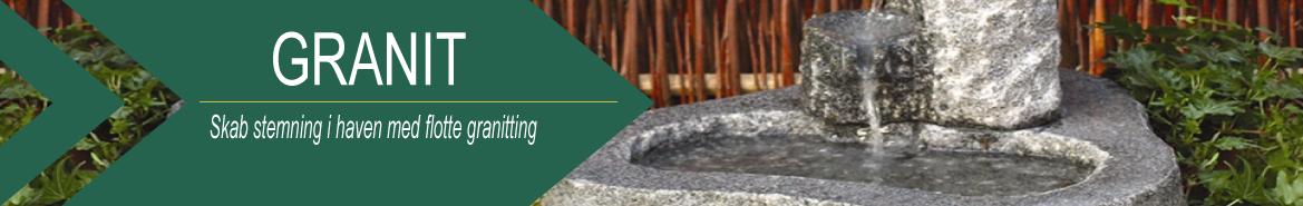 Granitbænke og borde