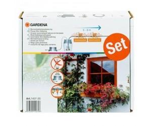 Fuldautomatisk vanding af blomsterkasser 1407 Gardena