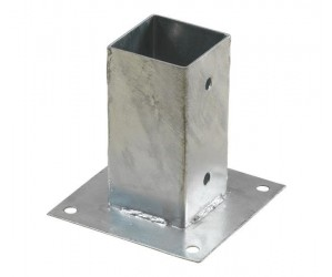 Cubic stolpefod varmegalvaniseret