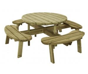 Rundt bord/bænkesæt