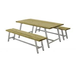 Royal plankesæt m. 1 bord og 2 bænke trykimprægneret