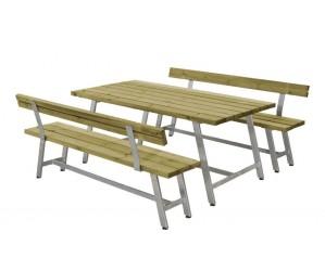 Royal plankesæt m.1 bord, 2 bænke og 2 ryglæn
