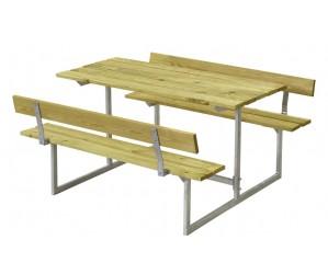 Basic børne bord og bænkesæt Plus