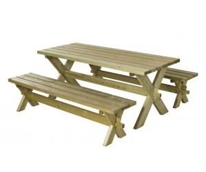 Nostalgi Plankebord/bænkesæt trykimprægneret