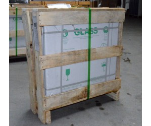 F10061 Kasse m/glas 61x61