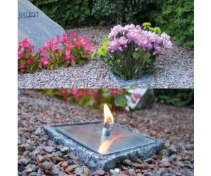 Kombineret gravvase og ildsten